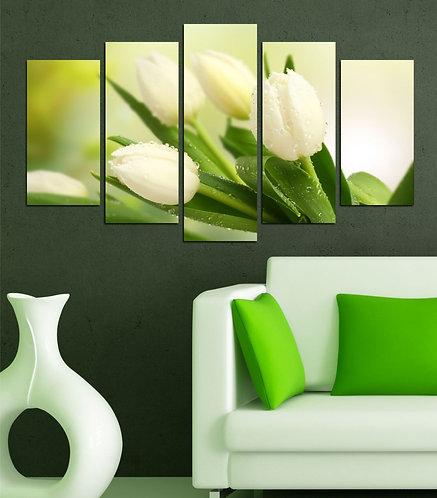 Tulip (4) 5 Pieces MDF Painting