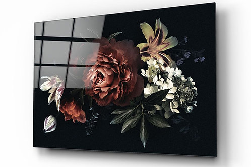 Flowers UV Printed Glass Painting