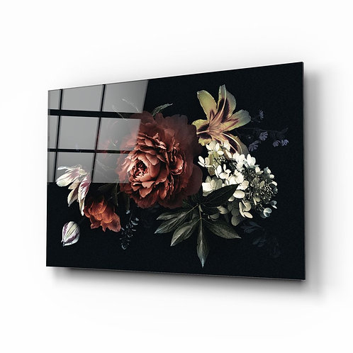 Flowers UV Printed Glass Printing
