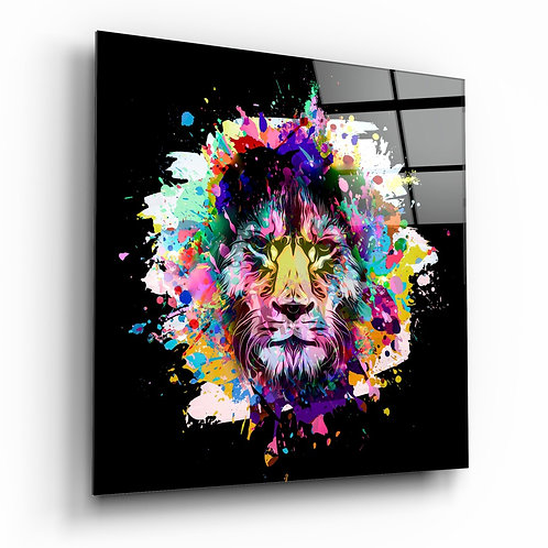Lion's Anger Glass Printing