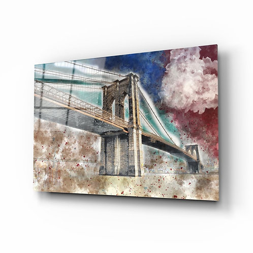3d illustration of bridge UV Printed Glass Printing