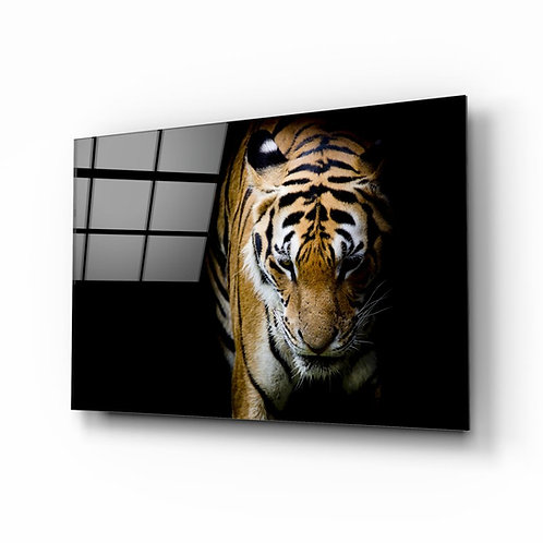 Tiger UV Printed Glass Painting