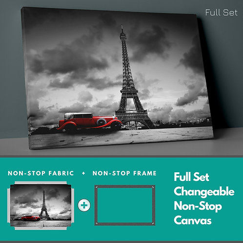 Red Classic Car Non-Stop Canvas Printings