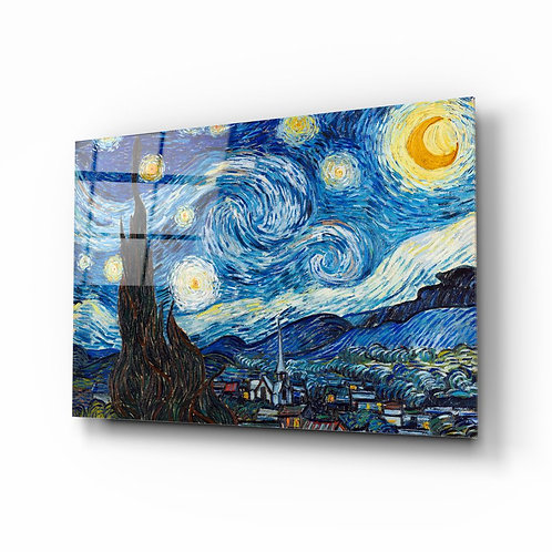 Van Gogh Stary at Night Glass Printing