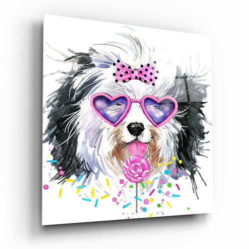 Cute Dog UV Printed Glass Printing