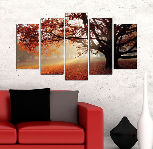 Wood (2) 5 Pieces MDF Painting