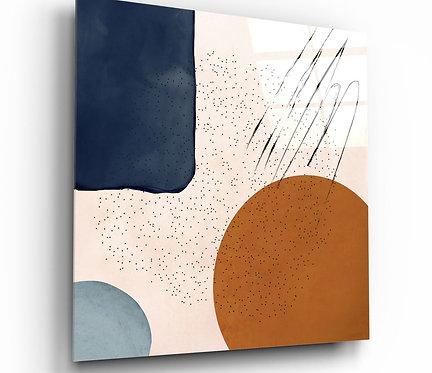 Kopenhagen Shapes UV Printed Glass Painting