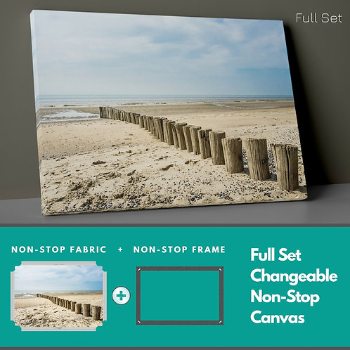 Beach Changeable Non-Stop Canvas Printings