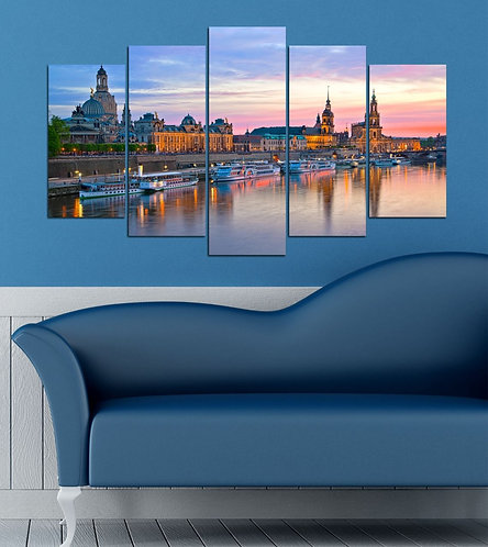 Dresden 5 Pieces MDF Painting