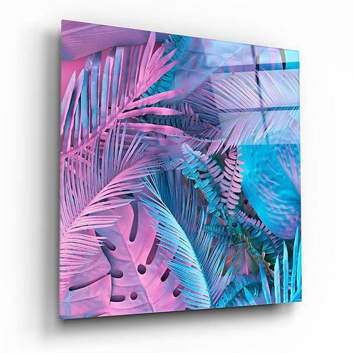 Tropical Leaves UV Printed Glass Printing