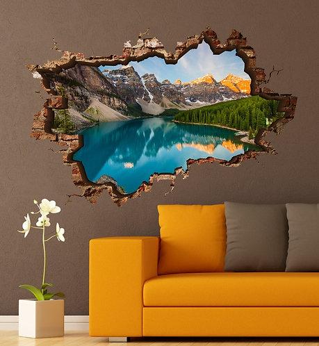Mountain Lake 3D Wall Sticker