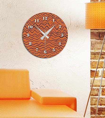 Wavy MDF Clock