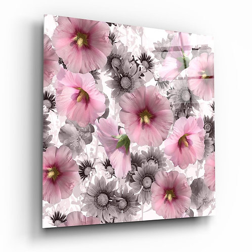 Flower UV Printed Glass Painting