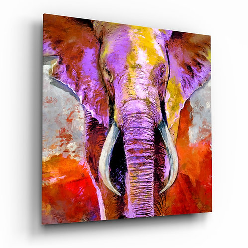 Elephant's Revenge Glass Painting
