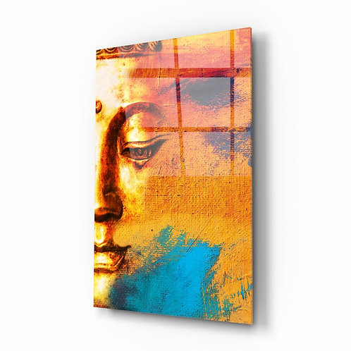 Buddha Portrait UV Printed Glass Painting
