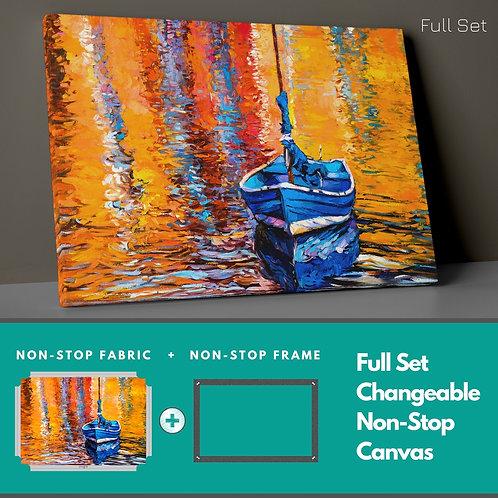 Reflections And Kayak Non-Stop Canvas Printings