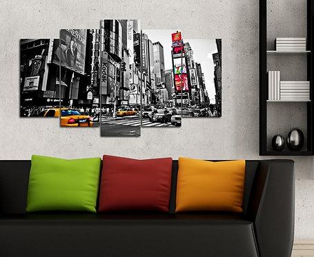 Manhattan 5 Pieces MDF Painting