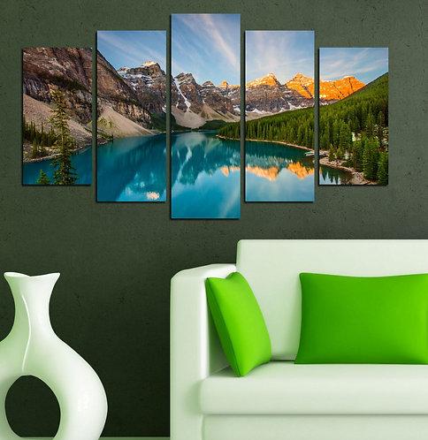 Nature landscape (2) 5 Pieces MDF Painting