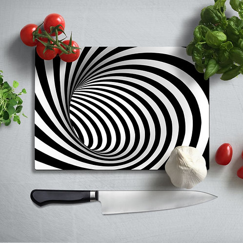 Illusion Uv Printed Glass Chopping Board 35x25 cm
