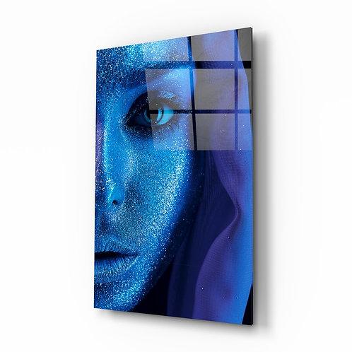 Woman Portrait on Glass Printing