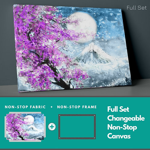 Purple Tree And Full Moon Non-Stop Canvas Printings