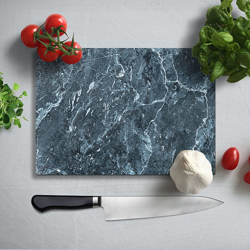 Marble Pattern Uv Printed Glass Chopping Board 35x25cm