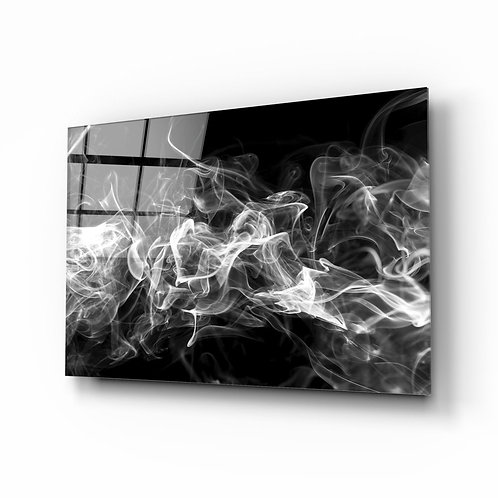 White Smoke UV Printed Glass Printing