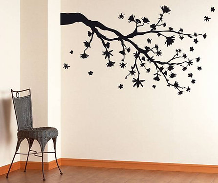 Branch And Flowers Wall Sticker