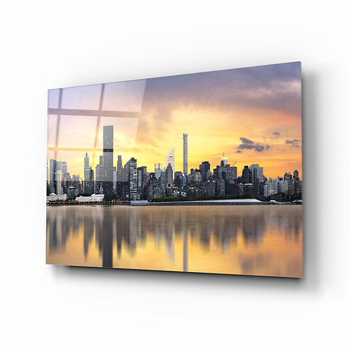 Downtown UV Printed Glass Painting