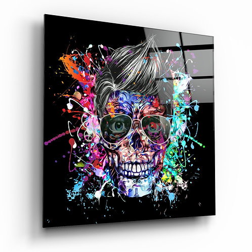 Colors and Skull Glass Printing