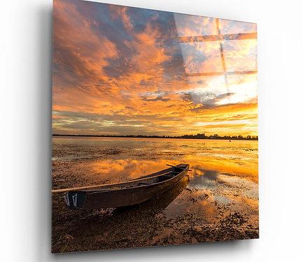 Lake UV Printed Glass Painting