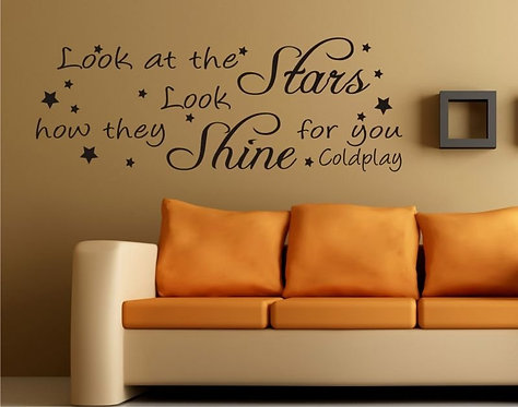 Look At The Stars Wall Sticker