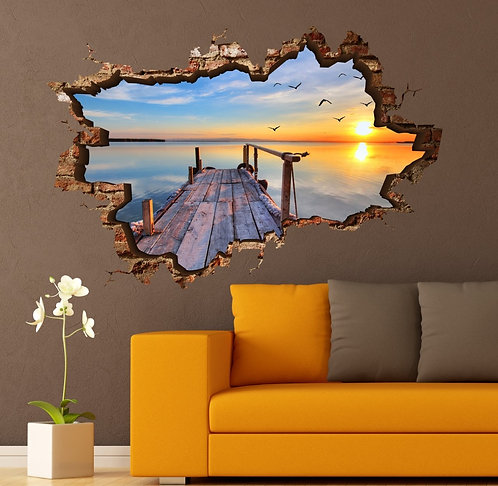 Coastal 3D Wall Sticker