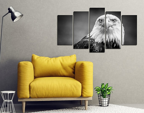 Eagle 5 Pieces MDF Painting