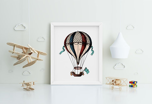 Air Balloon Framed Printing