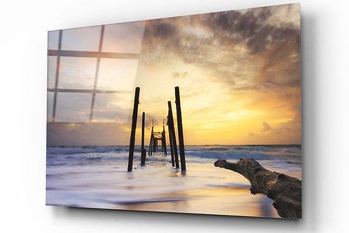 Ruined Dock UV Printed Glass Painting