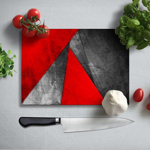 Geometric Uv Printed Glass Chopping Board 35x25cm