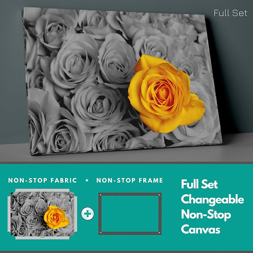 Yellow Rose Non-Stop Canvas Printings