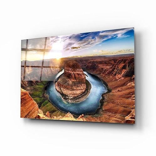 Canyon UV Printed Glass Painting