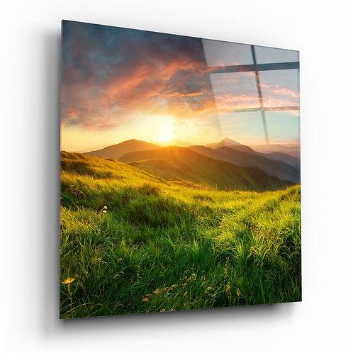 Mountain Landscape UV Printed Glass Printing