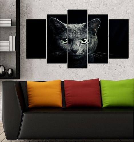 Cat (2) 5 Pieces MDF Painting