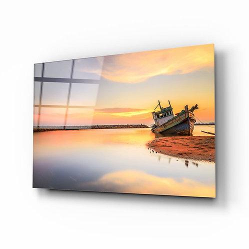 Ship UV Printed Glass Painting the Beach