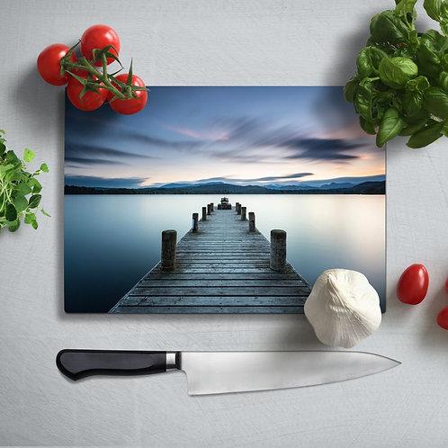 Pier Uv Printed Glass Chopping Board 35x25 cm