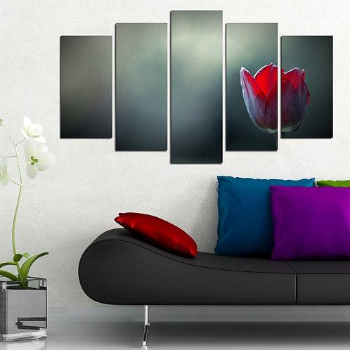 Tulip (8) 5 Pieces MDF Painting