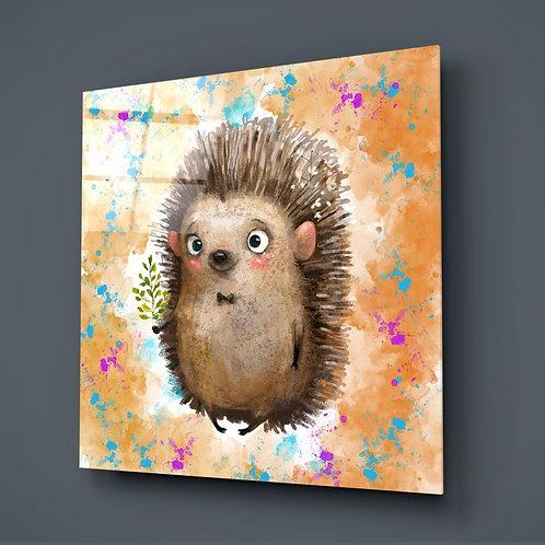 Hedgehog UV Printed Glass Printing
