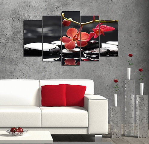 Spa 5 Pieces MDF Painting
