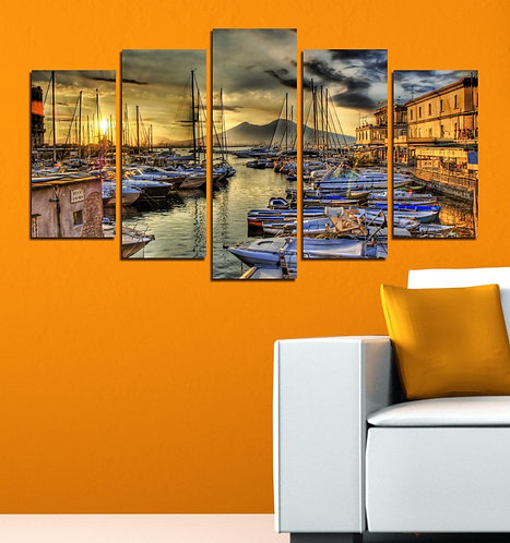 Port 5 Pieces MDF Painting