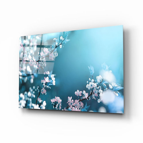 Spring Flowers UV Printed Glass Printing