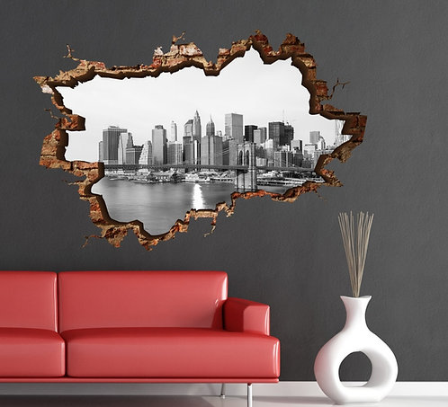 Brooklyn 3D Wall Sticker