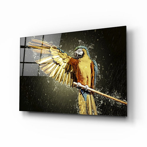 Parrot Glass Painting